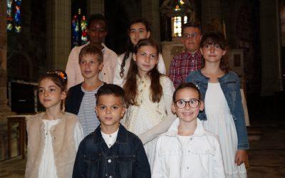1° communion de l'ensemble paroissial St Jean Paul II entre Loire et Mézenc .